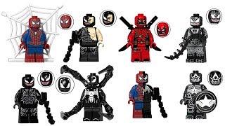 Lego Marvel Venom Spider Man Venom Captain America Venom Deadpool Minifigure
