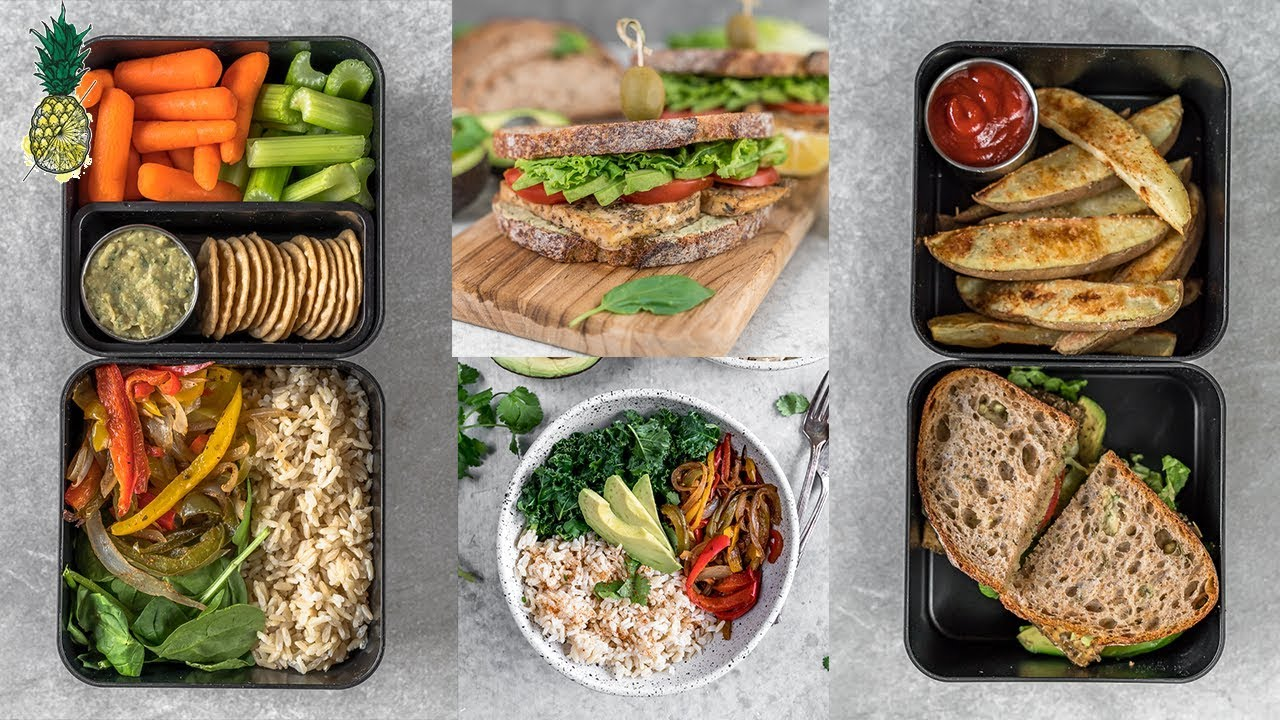 Easy Bento Box Lunches For School or Work | Vegan & Healthy