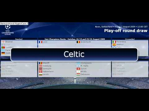 Uefa Champions League 2009-2010 Play-Off Draw