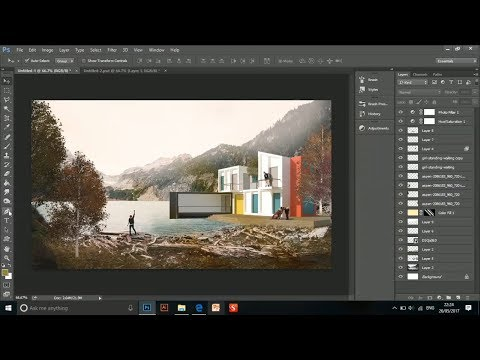 Post Production Architecture Visualization | Photoshop