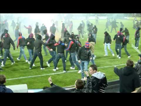 Riots after the match FC Aarau vs. FC Basel 15.05.2014 (HD)