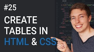 25: Table In HTML and CSS | How To Create Tables | Learn HTML and CSS | HTML Tutorial | CSS Tutorial Mp3