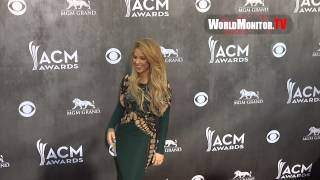 SHAKIRA Arrives at 49th Annual Academy Of Country Music Awards Redcarpet