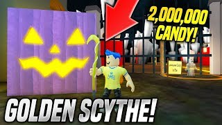 GETTING THE GOLDEN SCYTHE IN PUMPKIN CARVING SIMULATOR!! *MY NEW GAME* (Roblox)