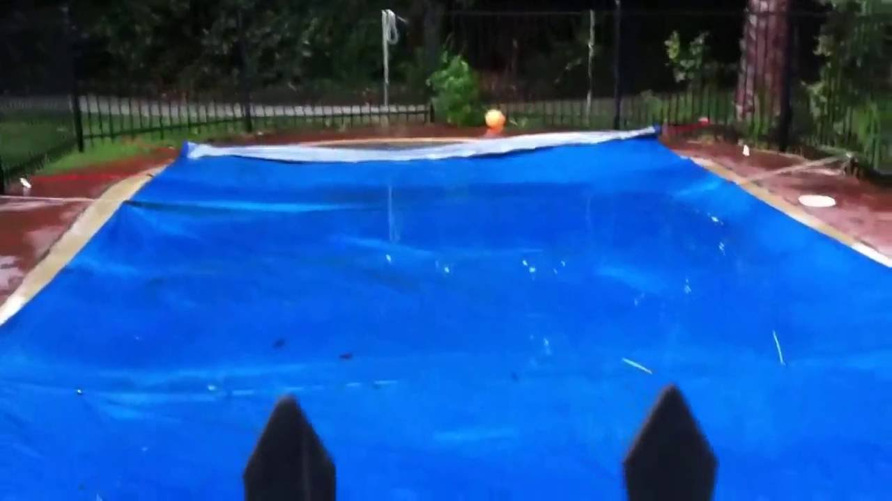 Diy Pool Cover Youtube