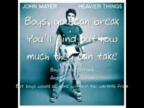 John Mayer- Daughters Lyrics