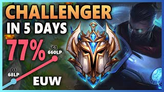 How I Climbed to CHALLENGER in 5 Days - League of Legends (100K Subscriber Special)