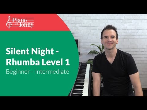 Silent Night - New Orleans Blues Rhumba Style - Beginner & Intermediate Piano Lesson
