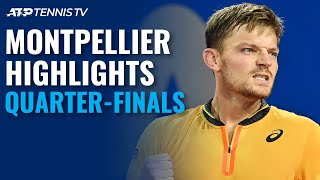 Bautista Agut Duels With Humbert; Goffin Faces Sonego | Montpellier 2021 Quarter-Final Highlights