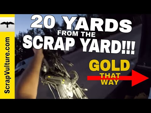 REAL TIME - Just GOLD RINGS COPPER Gold Plated eWaste & Scrap Metal is all I Found DUMPSTER DIVING..