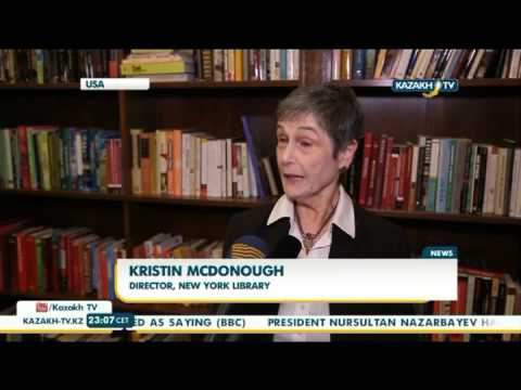 New York Public Library fund extended with Kazakh writers' books - Kazakh TV