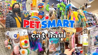Monthly PetSmart Shopping Haul 2021 / everything i got my cat from treats & food / Cat Supply Haul
