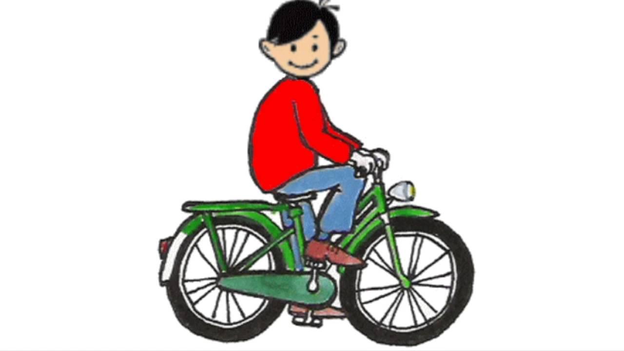 Картинка на велосипеде анимация