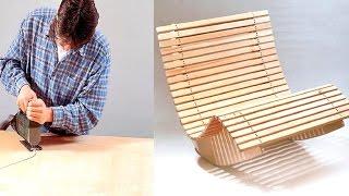 فن النجارة كرسي هزاز رائع | The art of carpentry wonderful rocking chair