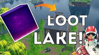 THE CUBE IS GONE?! FORTNITE LOOT LAKE UPDATE!