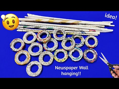 Best out of waste craft ideas |Newspaper wall hanging,diwali decoration newspaper craft ideas/Meesho