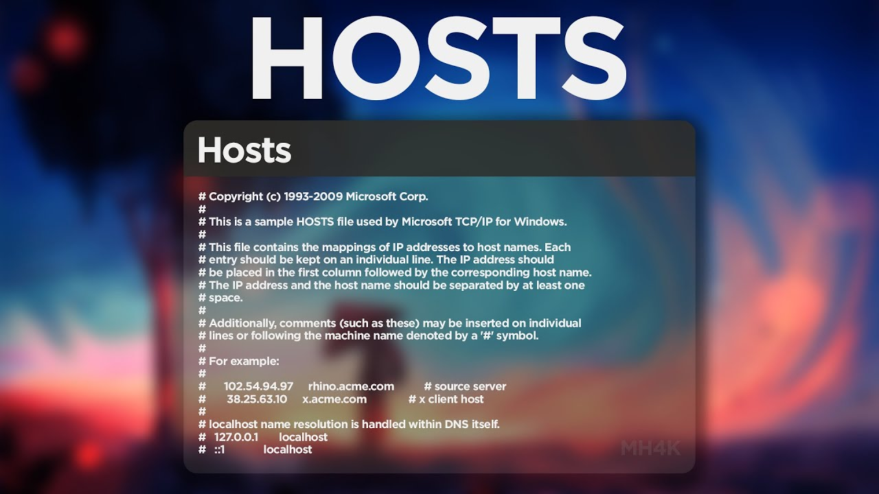 HOSTS: RESTORE HOST FILE MANUALLY IN WINDOWS 10
