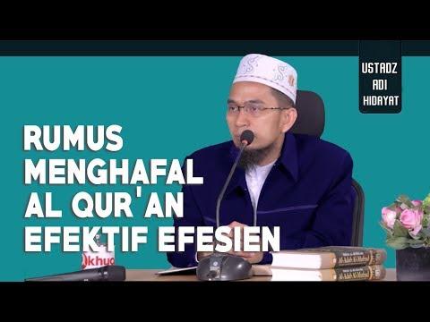 Tips Menghafalkan Al Qur'an Dengan Cepat Dan Kuat ||  Ustadz Adi Hidayat Lc MA