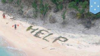 Tulisan 'TOLONG' di pantai menyelamatkan tiga orang yang terdampar - Tomonews