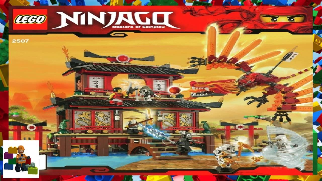 Lego Instructions Ninjago 2507 Fire Temple Book 1 Youtube
