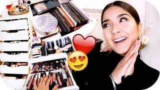 SCHMINKSAMMLUNG UPDATE 2018 - Organisation, Make Up Collection | Sanny Kaur