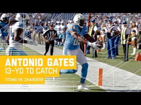 Philip Rivers Hits Antonio Gates for a Clutch 3rd Down Conversion & TD! | Titans vs. Chargers | NFL