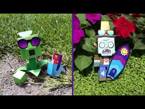 Plants vs. Zombies Paper Craft Time Lapse