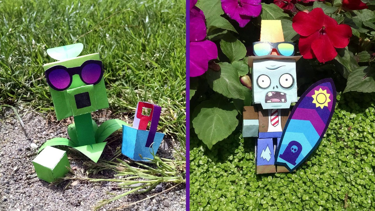 Plants Vs Zombies Paper Craft Time Lapse Youtube