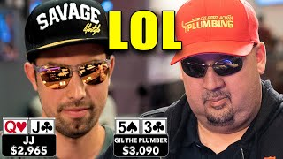 NO CHOP!!! FUNNY POKER HAND ♠ Live at the Bike!
