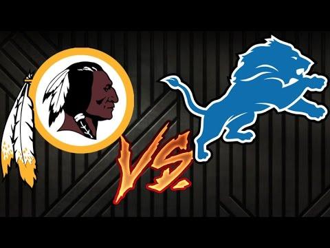 NFL REDSKINS VS LIONS 2016 WEEK SEVEN RECAP
