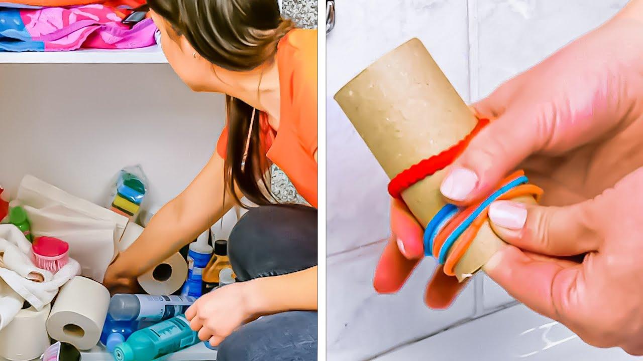 8つの賢い裏技でバスルームをもっと整理する!