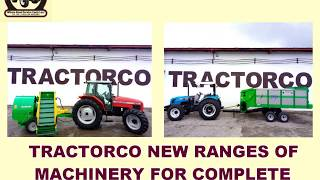 TRACTORCO - NEW RANGES OF MACHINERY FOR COMPLETE SILAGE MAKING SYSTEM