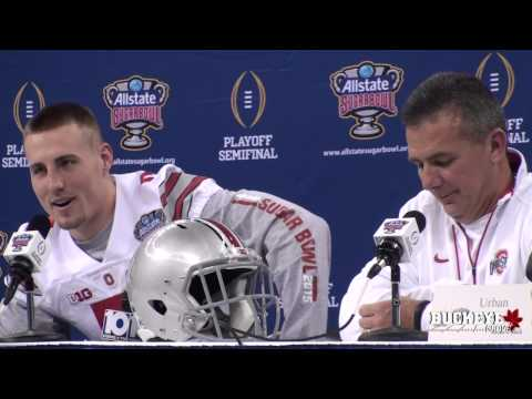 Meyer and Heuerman have fun at Media Day