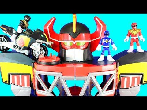 Imaginext Power Rangers Morphin Megazord Mastodon Battle Bike Dragonzord R/C Rita Repulsa Aliens