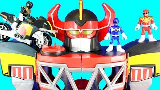 Imaginext Power Rangers Morphin Megazord Mastodon Battle Bike Dragonzord R/C Rita Repulsa Aliens