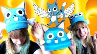 AYE SIR! Tutorial: How to make a Fairy Tail HAPPY beanie hat with WINGS!- Cloctor Creations