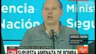 C5N - Sociedad: Comunicado por supuesta amenaza de bomba en Unicenter y Abasto