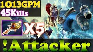 !Attacker Dota 2 - With 5 Divine Rapiers - 45Kills - 1013GPM - The Best Kunkka In The World vol 80!