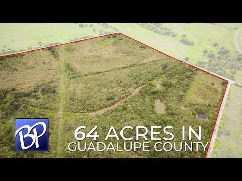 Land For Sale: 64 Acres in Guadalupe County, Texas