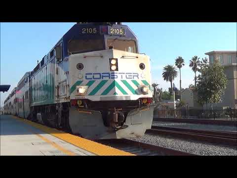 [HD] Trains in San Diego County - Carlsbad Village, CP Ponto, & Oceanside!