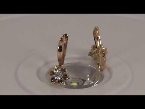 Золотые серьги С03