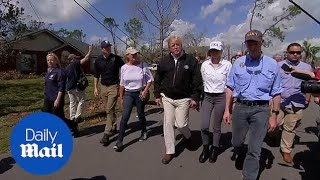 Trump visits storm ravaged Florida coast after Hurricane Michael