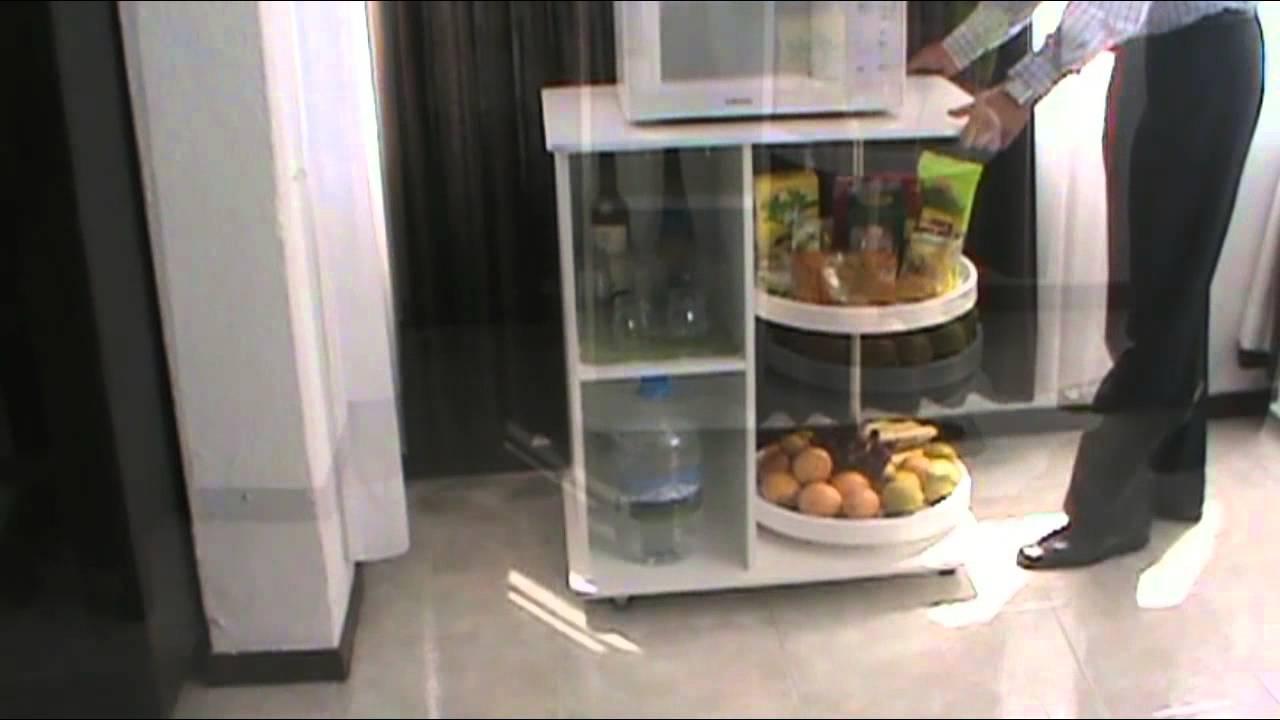 Mueble auxiliar para cocina youtube for Muebles de esquina para cocina