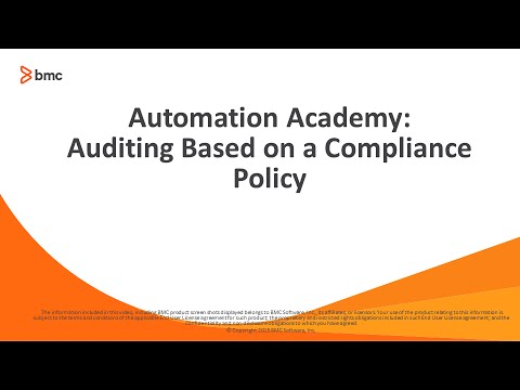 BSA: Auditing based on a Compliance policy