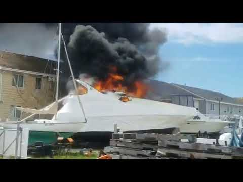 Wildwood Marina Boat Fire