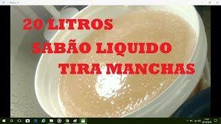 20 LITROS DE SABÃO LIQUIDO TIRA MANCHAS