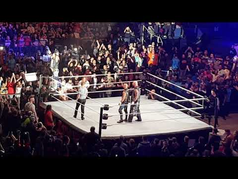WWE Oberhausen/ Shinsuke Nakamura and The Bar vs Aj Styles and The Club w/ entrances