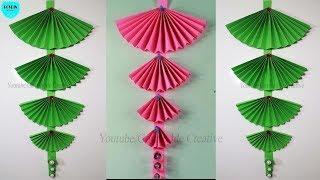 EASY!! How to Make Paper Wall Hanging | Ide Kreatif Cara Membuat Hiasan Dinding dari Kertas