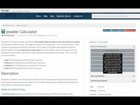 Jewelry Calculator