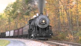 BIG TRAINS In Action # 2 | Fall Steam Train Watching | Lots of Train DVDs for Kids